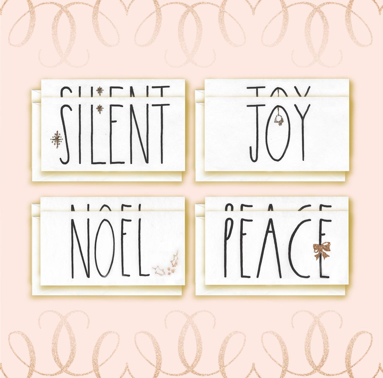 Angel Font Christmas Card bundle